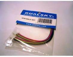 Dualsky 4 Pin male set