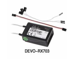 Devo 2.4Ghz 10CH Receiver, RX703 (PPM out)