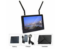 5,8Ghz diversity FPV 7 inch monitor, Black Pearl, with DVR