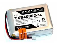 DualSky Lipo pack for transmitter for Spektrum DX series. 4000mA