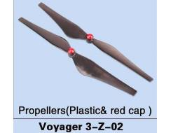 Plastic Red Cap Propellors for Voyager 3 (2 pcs, CW & CCW)