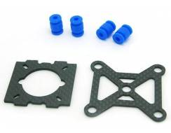 Two small mounting plate and shock absorption balls, pure carbon