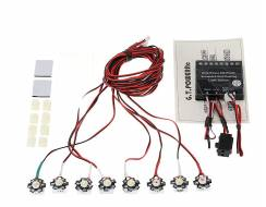 8 LED High Power 3W Flight Simulated and Flashing Light System