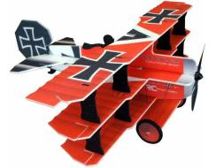 Crack Fokker Dr.1 Triplane, Red / Yellow