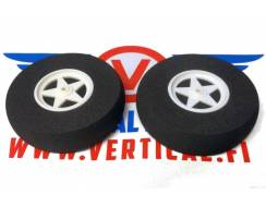 Foam wheels 75 mm, 2 pcs
