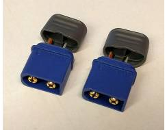 XT60A connectors with wire casing, Dualsky