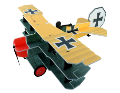 Lil Fokker Dr.1 Triplane, Yellow / Green