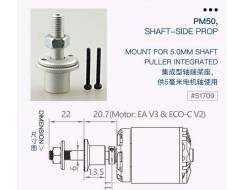 PM50 shaft-side prop. mount for 5.0mm shaft, puller integrated