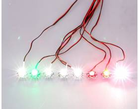 8 LED High Power 3W Flight Simulated and Flashing Light System3