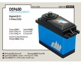 Digital 202 g DS9650, HV metal gear high torque 50kg Servo2