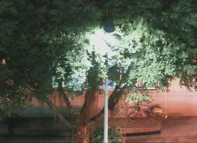Night vision camera view